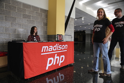 Madison PHP check-in desk